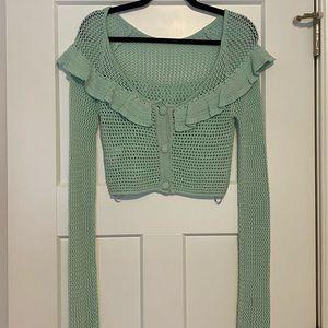 NWOT! never worn Tularosa crochet crop long sleeve